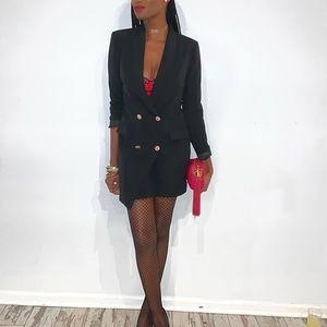 Black over sized blazer dress